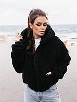 Жіноча зимове двостороння куртка (плащівка з водовідштовхувальним просоченням,друга-овчина), фото 3