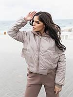 Жіноча зимове двостороння куртка (плащівка з водовідштовхувальним просоченням,друга-овчина), фото 7