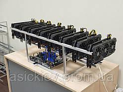 450 Mh/s Майнинг ферма на видеокартах Asus Radeon Rog-Strix Rx 5700хт