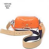 Сумка-багет с митенкой, цвет оранж/ беж, фото 2