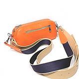 Сумка-багет с митенкой, цвет оранж/ беж, фото 4