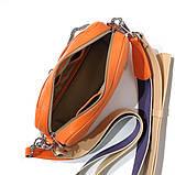 Сумка-багет с митенкой, цвет оранж/ беж, фото 5
