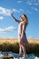 Льняное платье свободного кроя. Украина Silence 014 Lavender