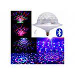 Диско лампа с динамиком в патрон LED UFO Bluetooth Crystal Magic Ball E27
