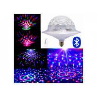 Диско лампа з динаміком в патрон LED UFO Bluetooth Crystal Magic Ball E27