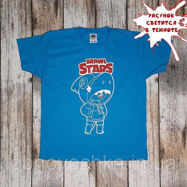"""Детская светящаяся футболка """"Бравл Старс"""" рост 128"""