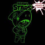 """Детская светящаяся футболка """"Бравл Старс"""" рост 128, фото 2"""