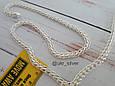 Серебряная цепь Королевский Питон («Американка», «Кардинал»), 55 см. Вес 20,05 гр. 925 проба. Ручное плетение, фото 4