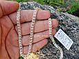 Серебряная цепь Королевский Питон («Американка», «Кардинал»), 55 см. Вес 20,05 гр. 925 проба. Ручное плетение, фото 3