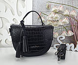 Женская сумка полукруглая, фото 4
