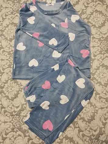Женская пижама ткань велюр 1121, фото 2