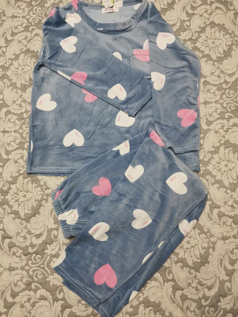 Женская пижама ткань велюр 1121