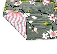 """Сімейний комплект (Бязь)   Постільна білизна від виробника """"Королева Ночі""""   Квіти на сірому і рожевому, фото 4"""