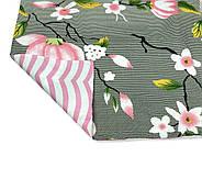 """Двоспальний комплект (Бязь)   Постільна білизна від виробника """"Королева Ночі""""   Квіти на сірому і рожевому, фото 4"""