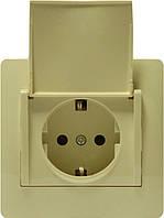 OSCAR Розетка с заземлением, защитными шторками и крышкой, фото 1