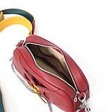Сумка-багет с митенкой, цвет красная груша, фото 6