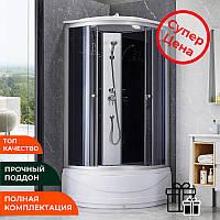 Душевой бокс Lidz Tani SB90*90 душевая кабинка с верхним душем и лейкой на глубоком поддоне 90 на 90
