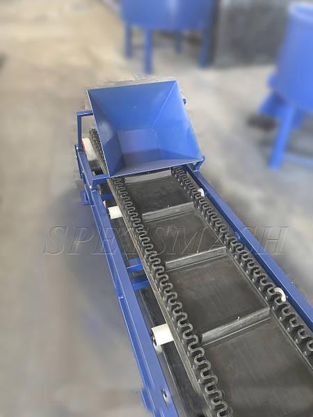 Ленточный транспортер гофроборт конвейер ширина 1600