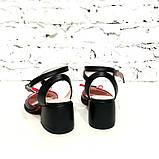 Босоножки с закрытым носочком, каблук 4см, цвет черный, фото 5