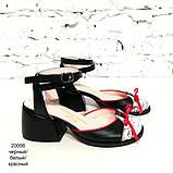 Босоножки с закрытым носочком, каблук 4см, цвет черный, фото 2