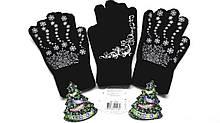 Перчатки женские черные Doloni
