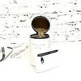 Поясная сумка-колба с отдельными секциями, цвет белый, фото 7