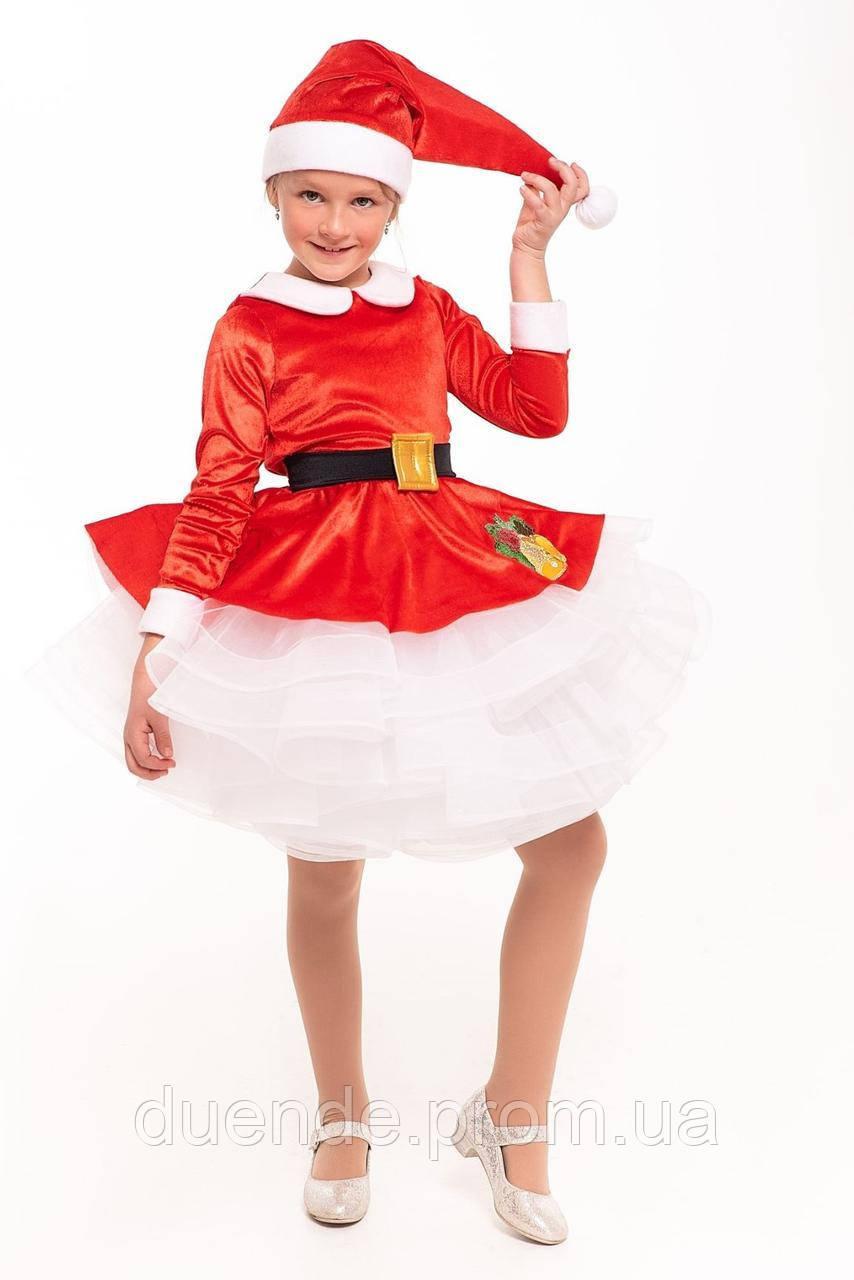Карнавальный костюм САНТЫ для девочки / BL - ДНг27