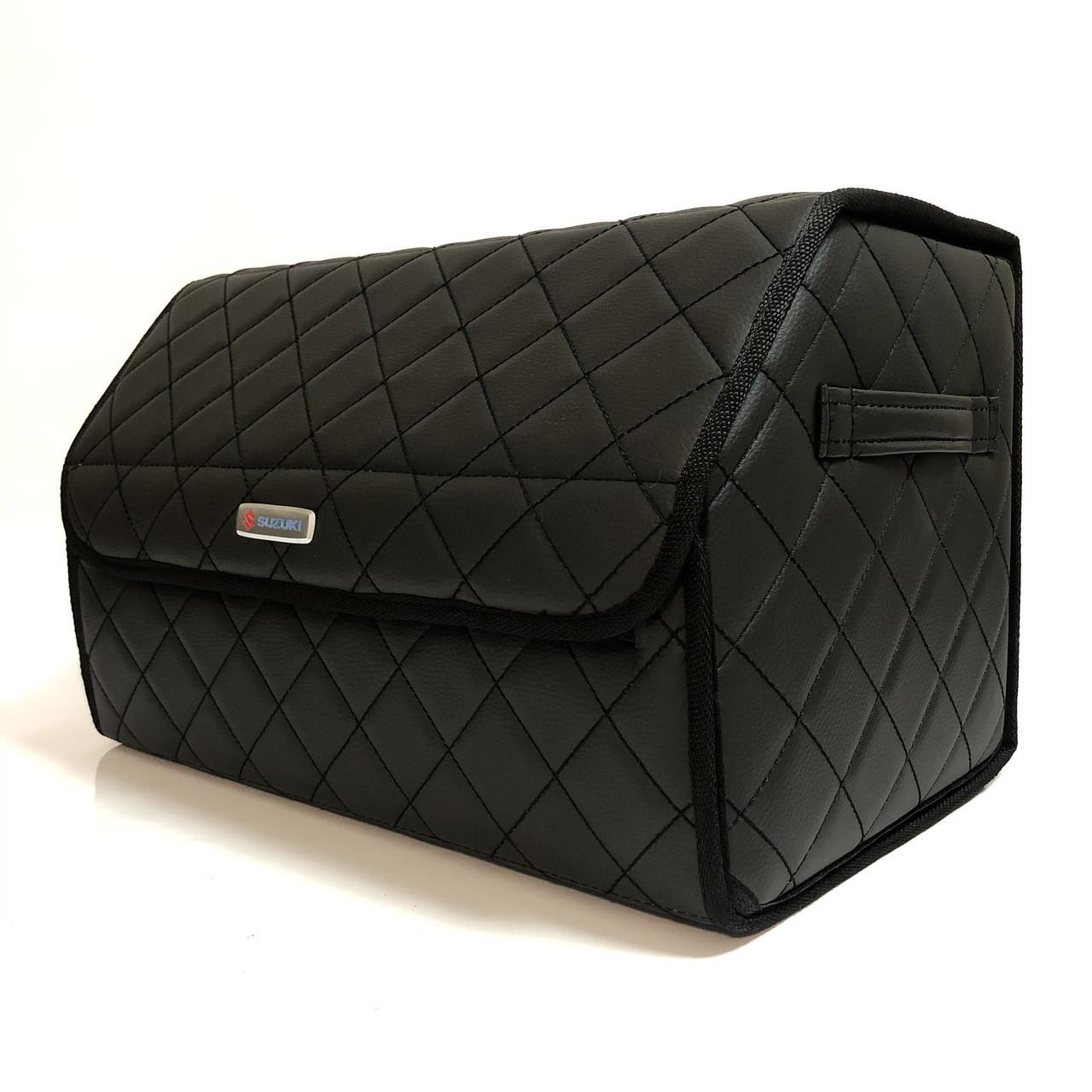Саквояж с лого в багажник « Suzuki» I Органайзер в авто черный Сузуки