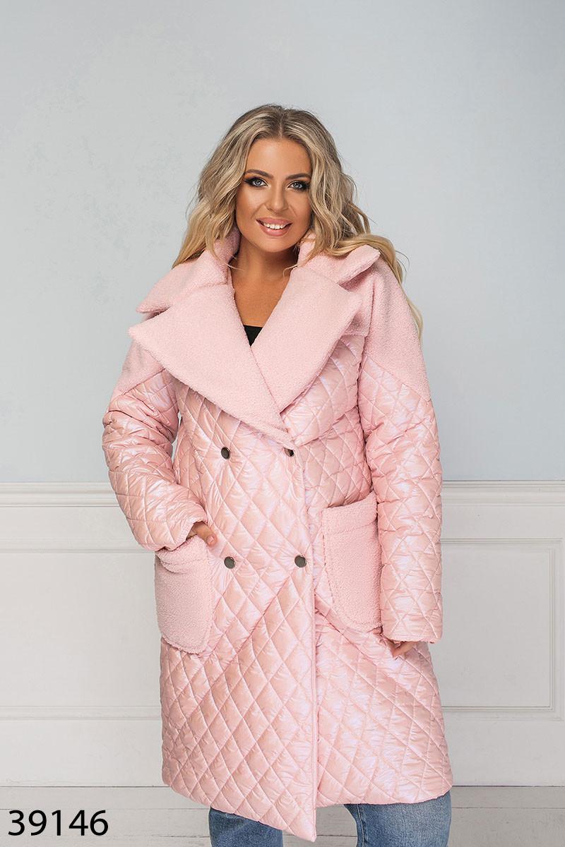 Куртка длинная стеганая демисезонная-зимняя размеры: 50-60