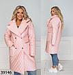 Куртка длинная стеганая демисезонная-зимняя размеры: 50-60, фото 6