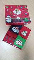 Набор носков новогодних женских теплых в подарочной коробке