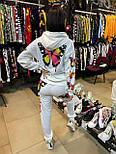 Женский спортивный костюм с бабочками белый, фото 3
