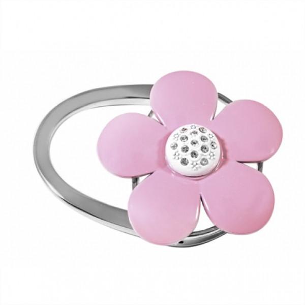 Сумкодержатель розовый цветок
