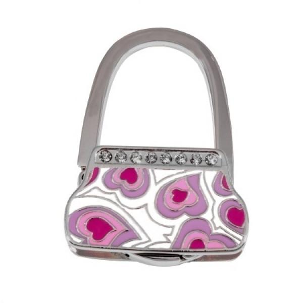 Сумкодержатель сумочка фіолетові сердечка