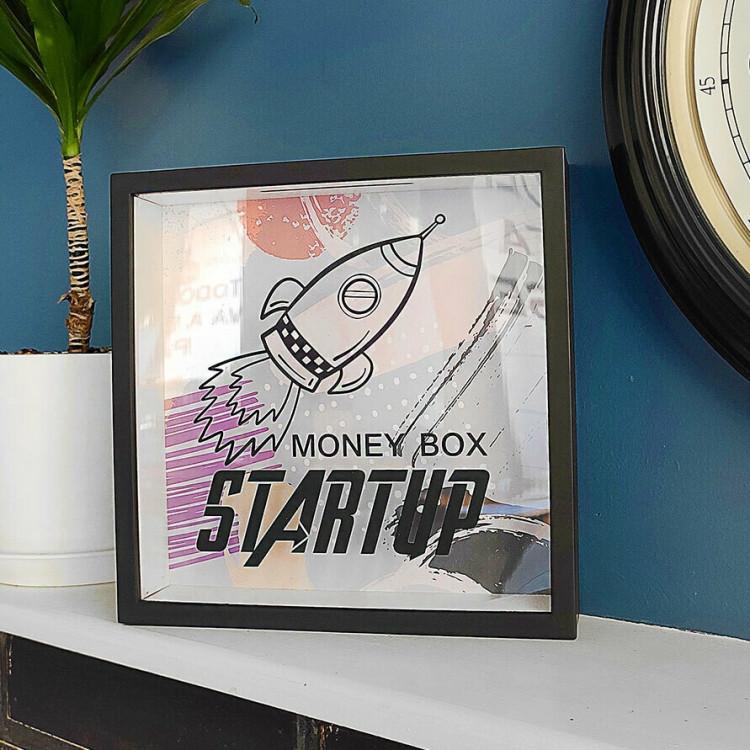 Дерев'яна скарбничка для грошей Startup