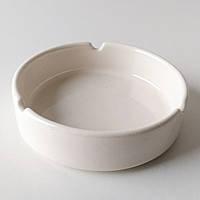 Пепельница , керамика , белая , 10*3 см., фото 1