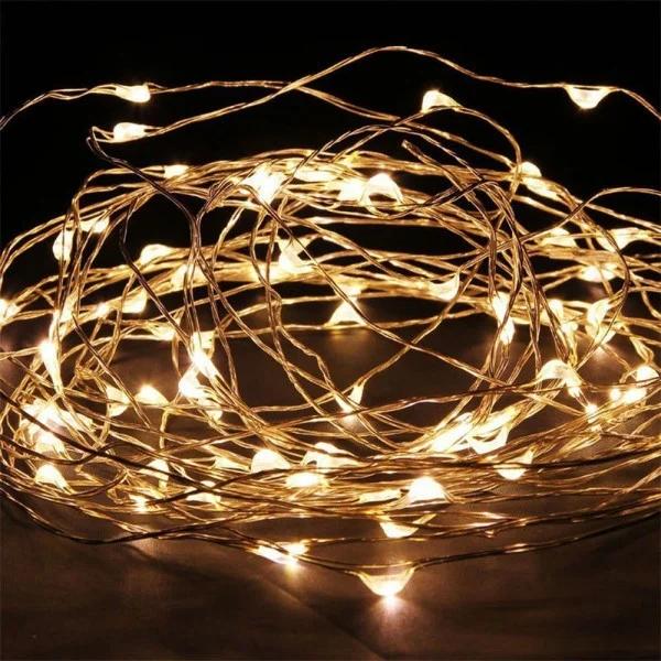 Новогодняя гирлянда светодиодная нить 5м