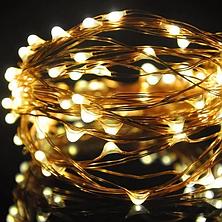 Новогодняя гирлянда светодиодная нить 5м, фото 3