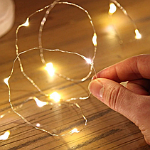 Новогодняя гирлянда светодиодная нить 5м, фото 2