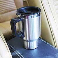 Автомобильная термокружка с подогревом от прикуривателя Car Mug 350 мл, фото 1