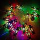 Новогодняя гирлянда фонарики внутренняя 20 led (Большие), фото 2