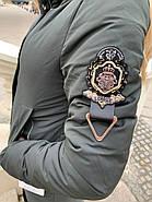 Длинный пуховик пальто Visdeer 1957-S07-haki, фото 8