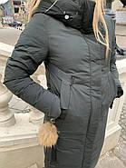 Длинный пуховик пальто Visdeer 1957-S07-haki, фото 4