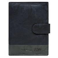 Мужской кожаный бумажник на кнопке синий Always Wild N4L-GA, фото 1