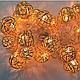 Новогодняя гирлянда золотые шарики внутренняя 20 led, фото 2