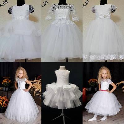 Снежинки белые платья