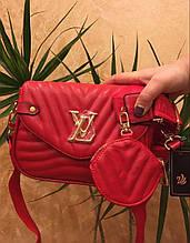 Сумка жіноча в стилі Louis Vuitton Луї Віттон червоного кольору