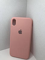 Чехол на iphone XR(Розовый / Pink)Silicone case накладка бампер светло розовый с подкладкой внутри