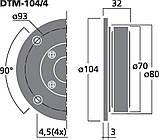 Monacor DTM-104/4 Высокочастотные динамики, фото 2