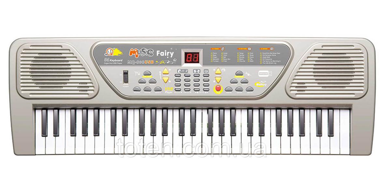 Детский пианино синтезатор MQ 806 орган 54 клавиши  USB (МP3) + микрофон. 2 динамика. Работает от сети